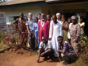 Chief, Imam and health workers at Yemoh Town CHC