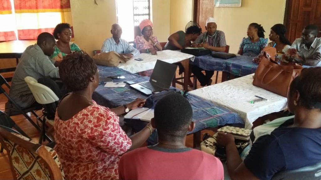One World Link Teachers' Committee planning meeting at OWL Centre in Bo.